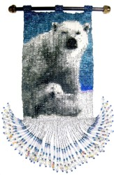 Mom and Baby Polar Bear Tapestry