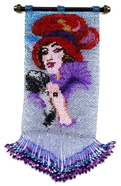 Red Hat Lady Tapestry