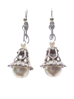 Pearl Cap Wire Earring Pattern and Kit