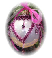 Beaded Christmas Ornaments instructions and kits