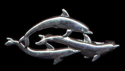 Dolphin Pin Sterling Silver