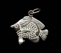Angel Fish Pendant Sterling Silver